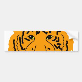 Tiger Closeup Bumper Sticker