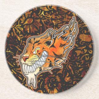 Tiger Coaster - Flowers