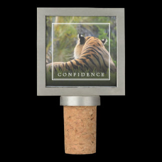 Tiger Confidence Customizable Wine Stopper
