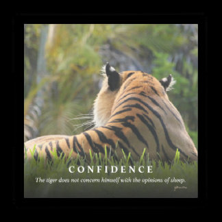 Tiger Confidence Quote Custom Acrylic Tray