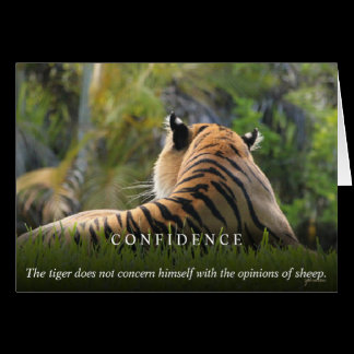Tiger Confidence Quote Custom Card