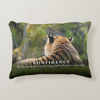 Tiger Confidence Quote Custom Decorative Pillow