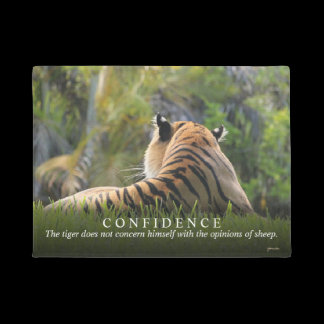 Tiger Confidence Quote Custom Doormat