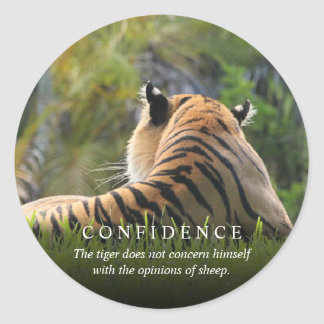 Tiger Confidence Quote Custom Envelope Seals /
