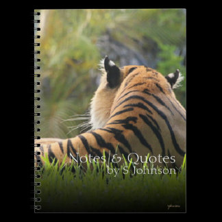 Tiger Confidence Quote Custom Journal /