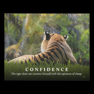 Tiger Confidence Quote Custom Panel Wall Art