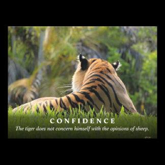 Tiger Confidence Quote Custom Photo Print