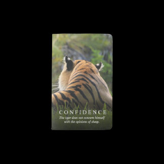 Tiger Confidence Quote Custom Pocket Moleskine Notebook