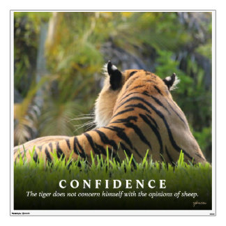 Tiger Confidence Quote Custom Wall Sticker