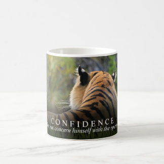 Tiger Confidence Quote Customizable Coffee Mug