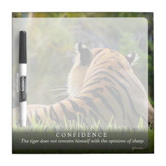Tiger Confidence Quote Customizable Dry-Erase Board