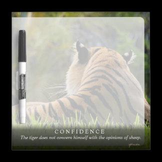 Tiger Confidence Quote Customizable Dry-Erase Board