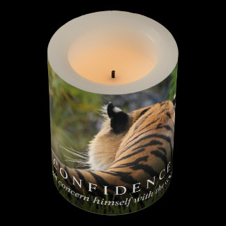 Tiger Confidence Quote Customizable Flameless Candle