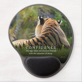 Tiger Confidence Quote Customizable Gel Mouse Pad