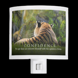 Tiger Confidence Quote Customizable Night Light