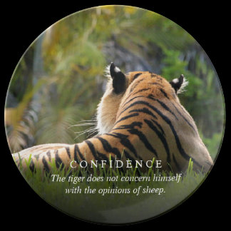 Tiger Confidence Quote Customizable Plate