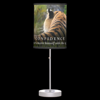 Tiger Confidence Quote Customizable Table Lamp