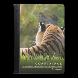 Tiger Confidence Quote iPad Case / Kindle Case
