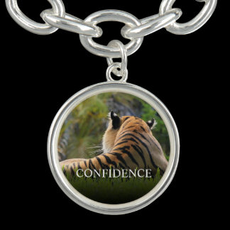 Tiger Confidence Quote Personalized Bracelets