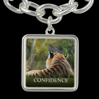 Tiger Confidence Quote Personalized Charm Bracelets