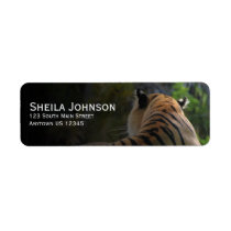 Tiger Confidence Quote Personalized Label