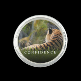 Tiger Confidence Quote Personalized Rings