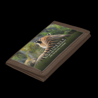 Tiger Confidence Quote Personalized Tri-fold Wallet