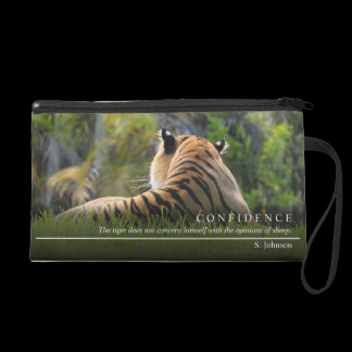 Tiger Confidence Quote Personalized Wristlet Purse