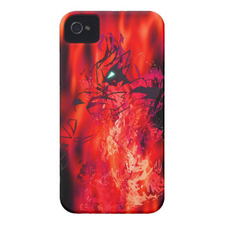 Tiger Crimson Flame iPhone 4 Case-Mate Cases