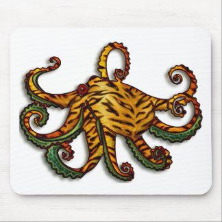 Tiger Crocodile Octopus Mouse Pad