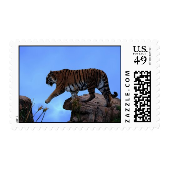 Tiger crossing postage