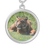 Tiger cub beautiful portrait necklace, gift idea