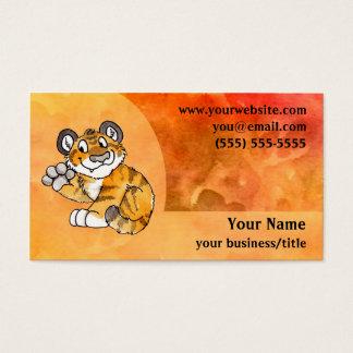 Tiger Cub Business Card - Fiery Orange