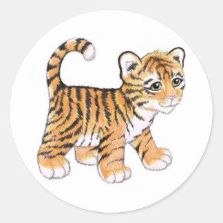 Tiger Cub Classic Round Sticker