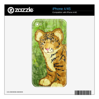 Tiger Cub Decals For The iPhone 4