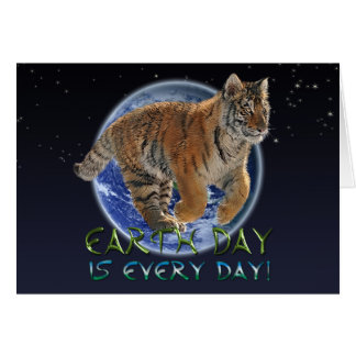 Tiger Cub Earth Day Endangered Species Card