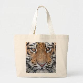 Tiger cub face large tote bag