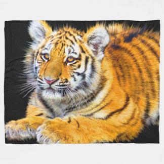 Tiger Cub Fleece Blanket, Large