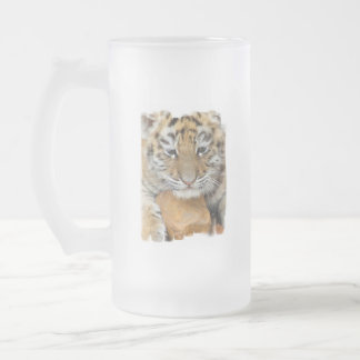 Tiger Cub Frosted Beer Mug