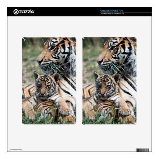 Tiger Cub Kindle Fire Decals