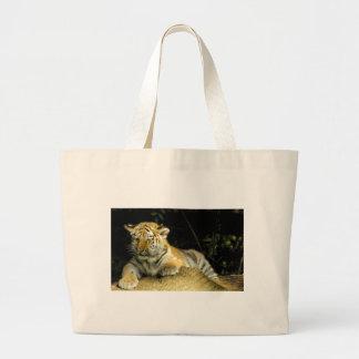Tiger cub large tote bag