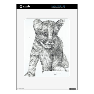 Tiger Cub pen and ink Decals For iPad