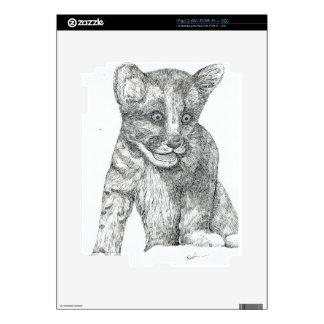 Tiger Cub pen and ink Decals For iPad 2