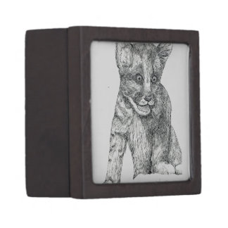 Tiger Cub pen and ink Jewelry Box