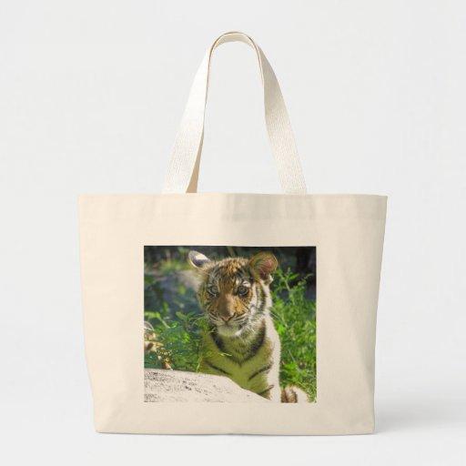 Tiger Cub Portrait 3 Jumbo Tote Bag
