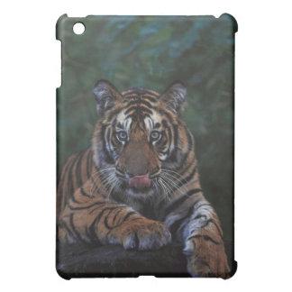 Tiger Cub Reclines on Rock iPad Mini Covers