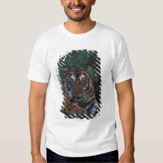 Tiger Cub Reclines on Rock T-Shirt