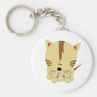 Tiger Cub Round Keychain