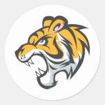 Tiger Cub Shirt   Cute Custom Tiger Cub Shirt Round Stickers