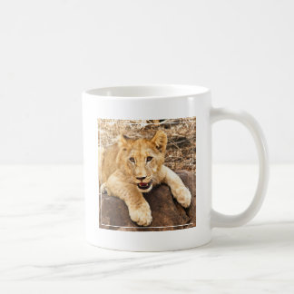 Tiger Cub Takes Breather On A Rock Coffee Mug